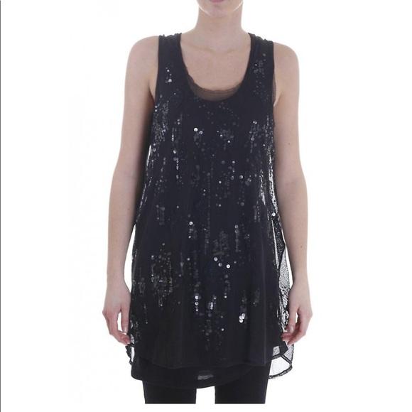 Diesel Dresses & Skirts - Diesel Black Mesh and Sequin Dress